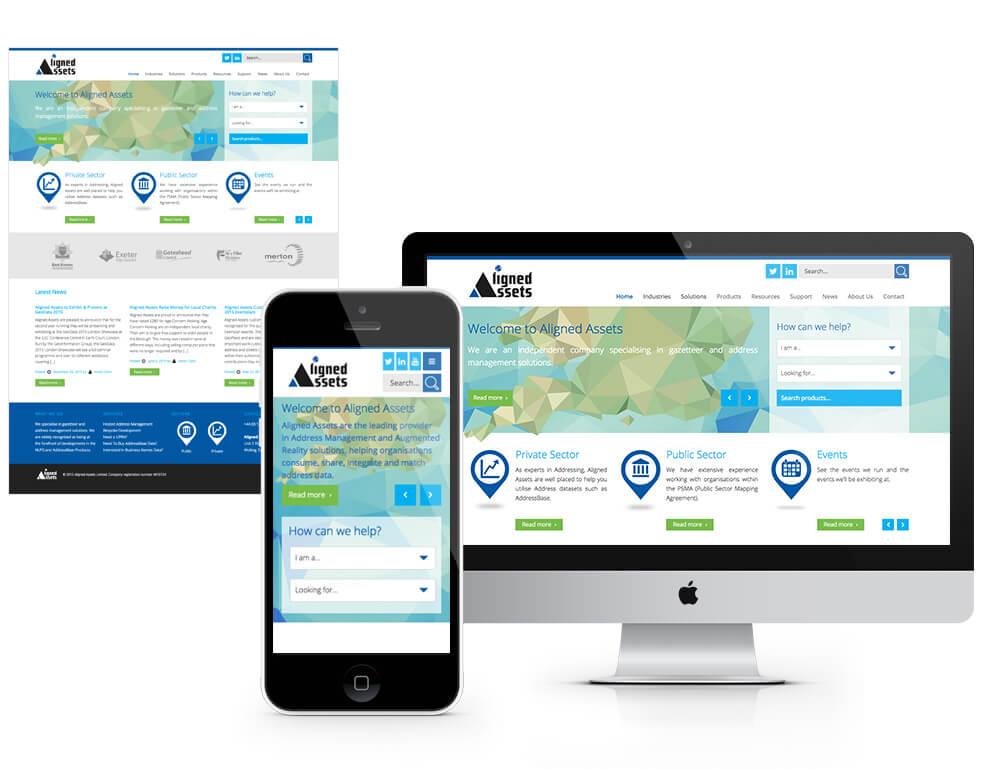 Aligned Assets web design