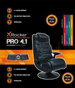X Rocker packaging detail