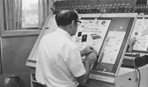 A pre-digital graphic designer